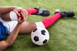The athlete suffers from an injury.