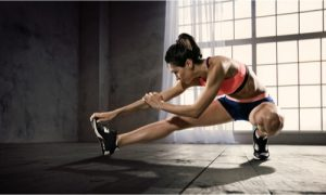 stretching to get more fit and flexible